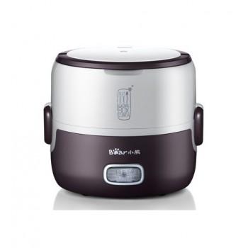 小熊(bear)DFH-S2016 便携式不锈钢蒸煮电热饭盒(咖啡色)